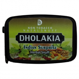 "Dholakia Nasal Snuff ""Non Tobacco"" Tabakfrei Indian Surprise 9g"