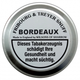 Fribourg & Treyer English Snuff Bordeaux 25g