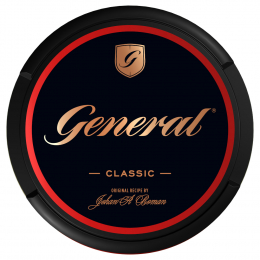 General Classic Black 18g Kautabak Chewing Bags
