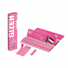 Gizeh King Size Slim PINK Edition Blättchen + Filter Tips 34 St/Pck