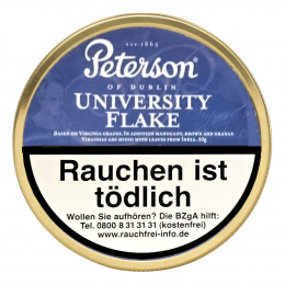 Peterson of Dublin University Flake 50g