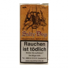 Salty Dogs 50g Traditional Navy Style Plug Tobacco