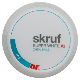Skruf Super White Ice #3 Chew Bags 17g