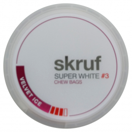 Skruf Super White Velvet Ice #3 Chew Bags 17g