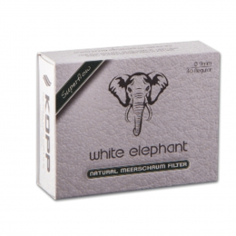 White Elephant Meerschaum Filter 9mm 40St