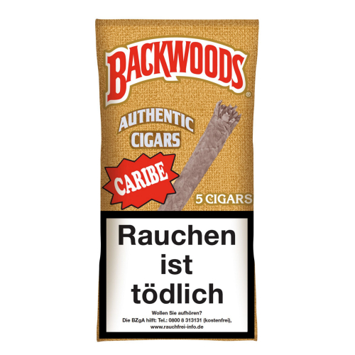Backwoods Authentic Cigars Caribe 5 St/Pck