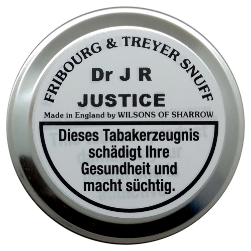 Fribourg & Treyer English Snuff Dr. JR Justice 20g