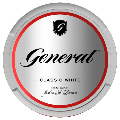 General Classic  White 18g Kautabak Chewing Bags