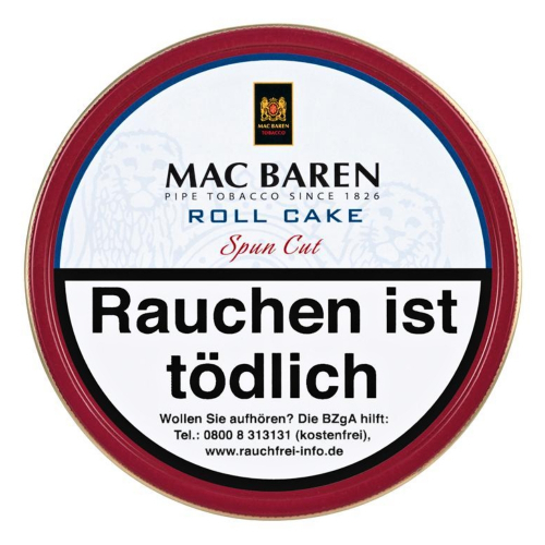 Mac Baren Roll Cake Spun Cut 100g