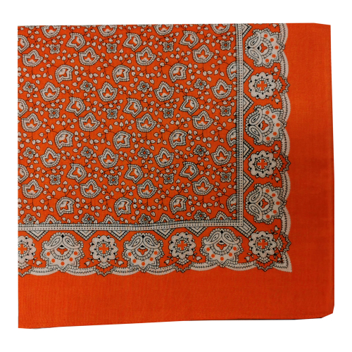 Schnupftuch Nickituch Ornamente Orange