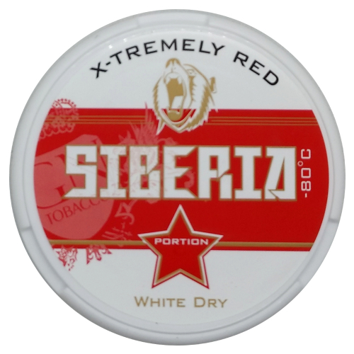 Siberia X-Tremely -80º Red Chewing Bags Kautabak 13g
